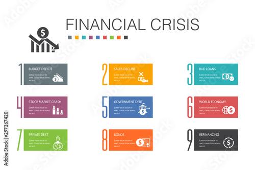 Cuadros en Lienzo financial crisis Infographic 10 option line concept