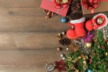 Small Santa Claus Boot With De...