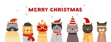Christmas Cats. Cute Kittens I...