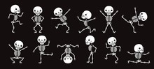 Dancing Skeletons. Cute Hallow...