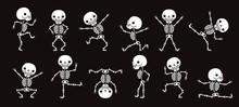 Dancing Skeletons. Cute Hallow...