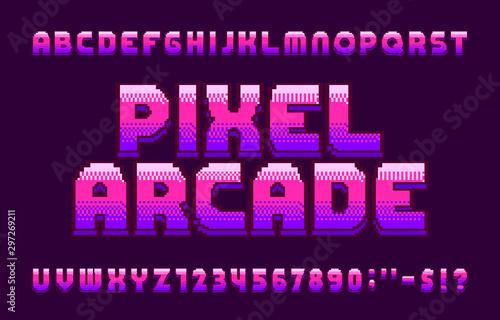 Pixel Arcade alphabet font Wallpaper Mural