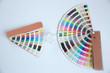 canvas print picture - Sample colors catalogue pantone or colour swatches book