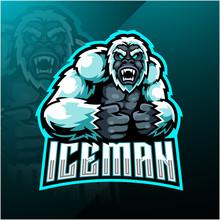 Yeti Esport Mascot Logo Design