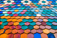 Roof Is Covered With Multicolo...