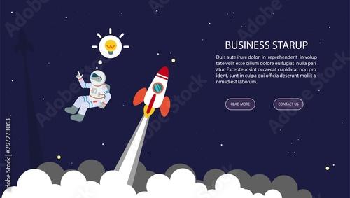 Obraz na plátně  Business startup
