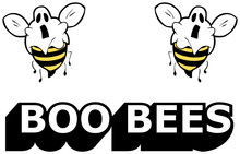 Boo Bees - Halloween Vector Il...