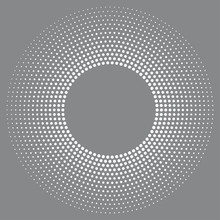 Halftone Radial Dots Backgroun...