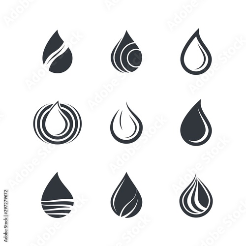 Oil drop icon vector illustration Tablou Canvas
