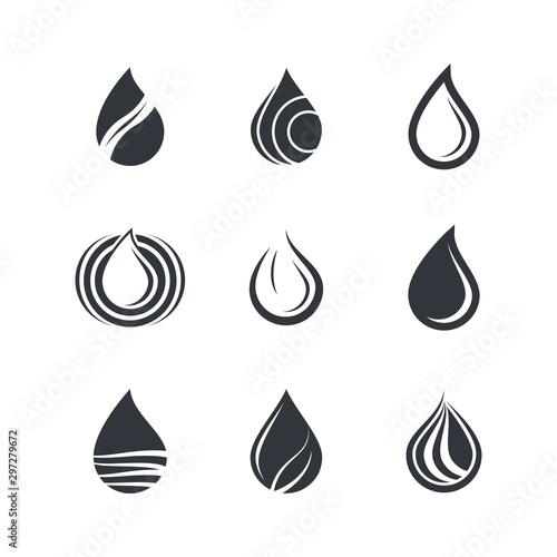 Obraz na plátne  Oil drop icon vector illustration