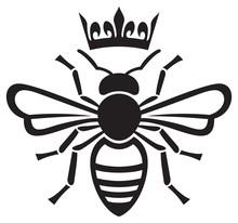 Bee Queen With Crown Vector Illustration