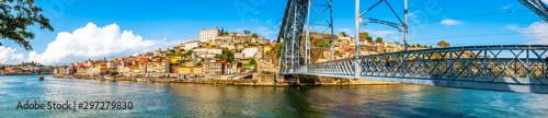 Fototapety, obrazy: Dom Luis I Steel Bridge on the Douro River in Porto, Portugal