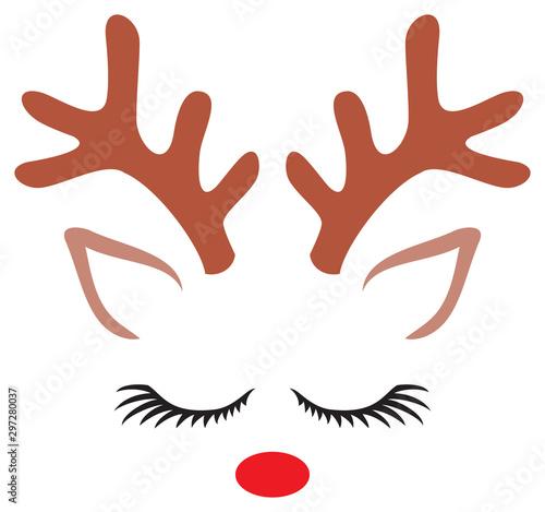 Obraz na plátně  Cute Reindeer (Christmas design)