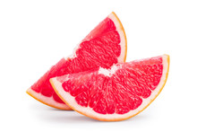 Grapefruit Slice Isolated On W...