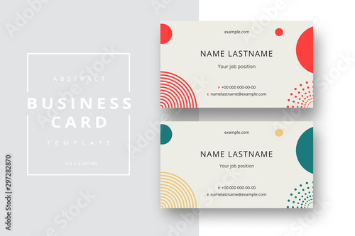 Fotografia  Trendy minimal abstract business card template