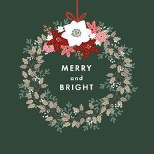 Merry And Bright Christmas Gre...