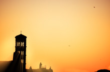 Silhouettes Of The Bell Tower ...