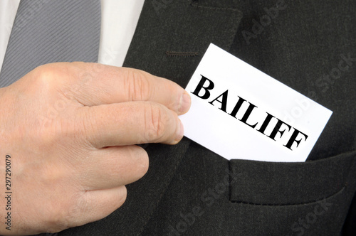 Photo Bailiff business card