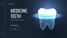 Teeth Health Low Poly Landing Page Template