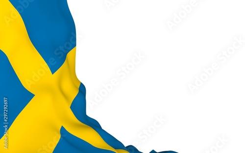 Fotomural  The flag of Sweden