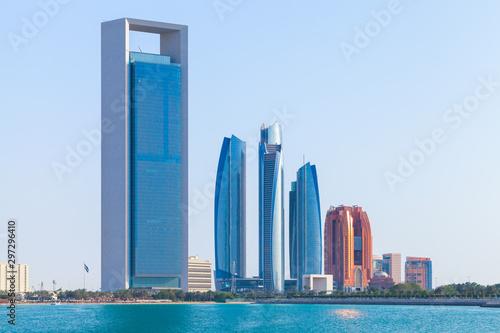 Foto op Canvas Abu Dhabi Abu Dhabi downtown cityscape