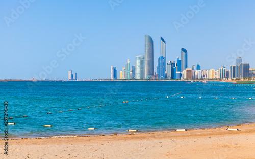 Poster Abou Dabi Abu Dhabi coastal cityscape