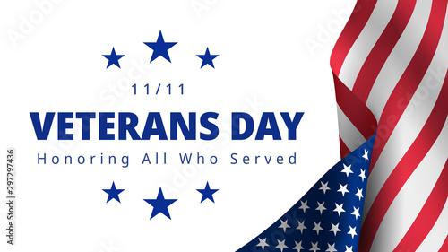 Happy and Free Veterans Day November 11th Wallpaper Mural