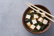 Bowl With Miso Soup And Chopst...