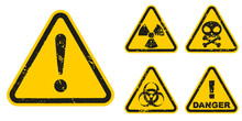 Set Of Grunge Danger Signs Iso...