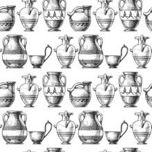 Pattern With Greek Vases.