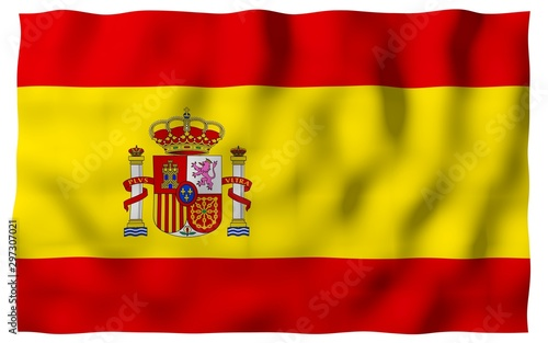 Foto  The flag of Spain