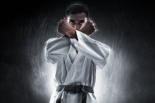 Karate Martial Arts Fighter On...