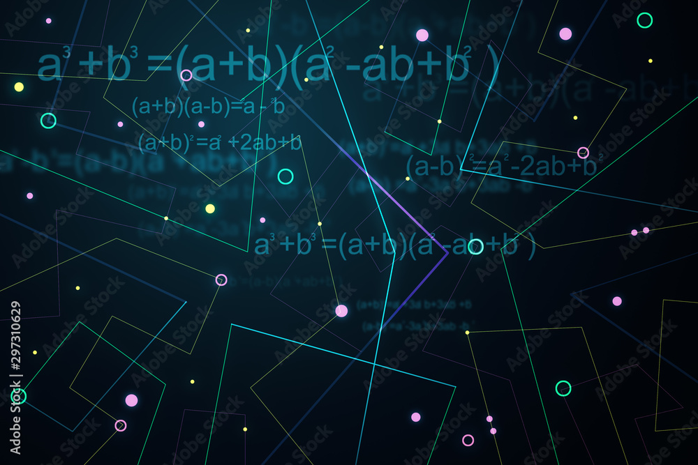 Fototapety, obrazy: Creative blue geometric background
