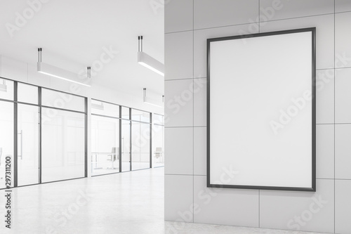 Photo Stands Amsterdam Modern white office with billboard