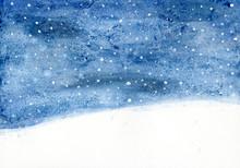Winternacht Aquarell