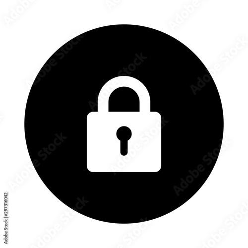 Fotografía  protection sign, padlock, security icon vector