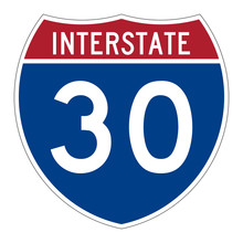 Interstate Highway 30 Road Sign