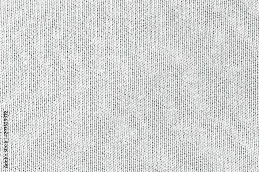 Fototapety, obrazy: White natural texture of knitted wool textile material background. White cotton fabric woven canvas texture