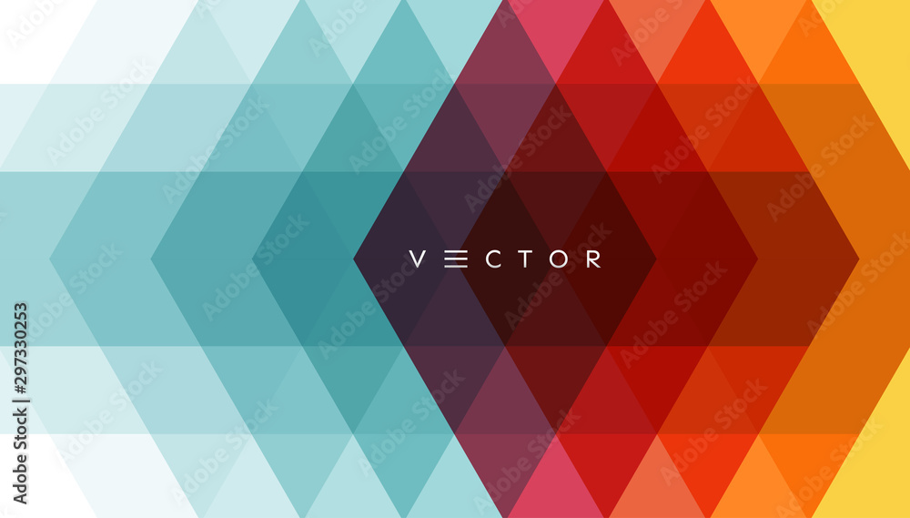 Fototapety, obrazy: Abstract geometrical background. Polygonal pattern with color triangles. 3d vector illustration for advertising, marketing and presentation.