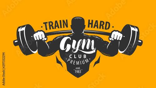 Gym club logo or emblem Slika na platnu