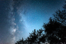 Night Starry Sky Against The B...
