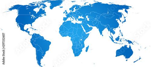 Fotomural map of world