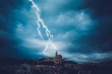 Lighting Strike Over Malta