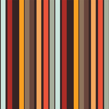 Colorful Vertical Stripes Seamless Pattern. Striped Fashion Print In A Trendy Warm Color Palette. Abstract Geometric Background. Vector Illustration.