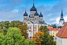 Alexander Nevsky Cathedral In Tallinn Estonia
