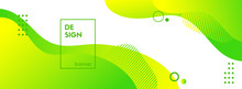 Green Liquid Banner Template. ...
