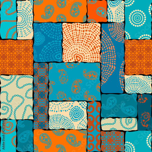 Tapety Turkusowe seamless-background-pattern-patchwork-pattern-in-indian-style-vector-image
