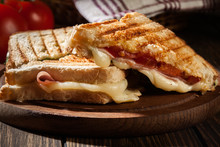 Panini With Ham, Cheese And Le...