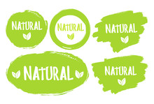 Natural Product 100% Icon Isol...