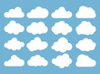 canvas print picture - Clouds icon, vector illustration. Cloud symbol or logo, different clouds set